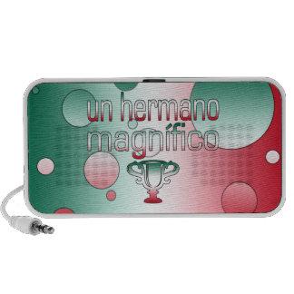Un Hermano Magnífico Mexico Flag Colors Pop Art iPod Speakers