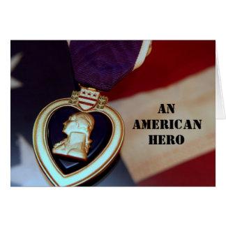 Un héroe americano tarjeta de felicitación