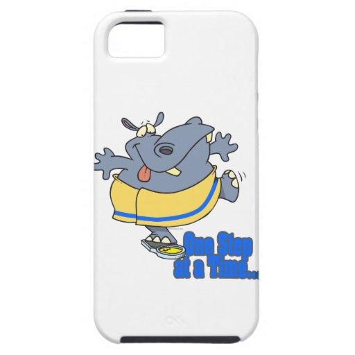 un hipopótamo de dieta divertido del paso a la vez iPhone 5 coberturas