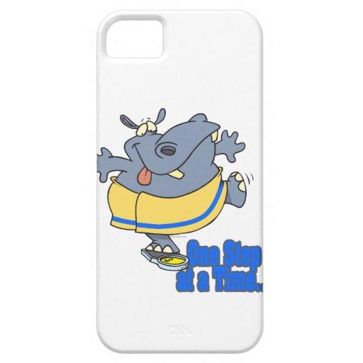 un hipopótamo de dieta divertido del paso a la vez iPhone 5 carcasas
