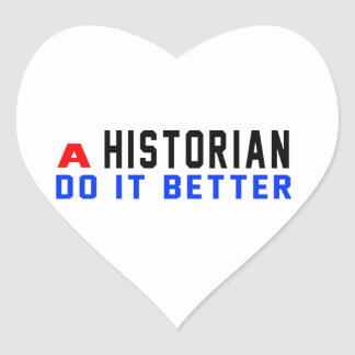 Un historiador mejora pegatina en forma de corazón
