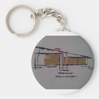 Un hogar de Eichler en un T #1 Llavero Redondo Tipo Pin