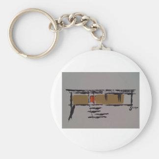 Un hogar de Eichler en un T #3 Llavero Redondo Tipo Pin