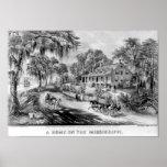 Un hogar en la impresión de Mississippi Posters