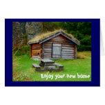 Un hogar en las montañas tarjeta