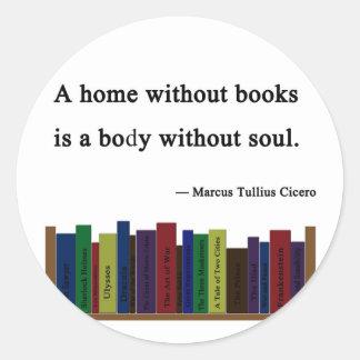 Un hogar sin pegatina de los libros