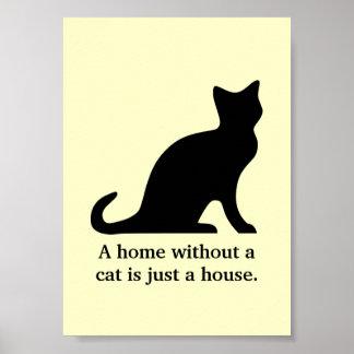 Un hogar sin un gato es apenas un poster de la