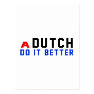 Un holandés mejora tarjetas postales