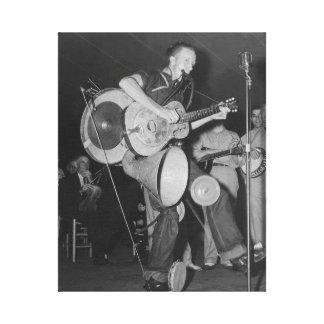 Un hombre Band, 1938 Impresión En Lona