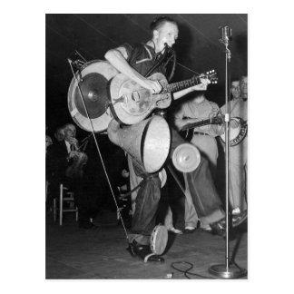 Un hombre Band, 1938 Tarjeta Postal