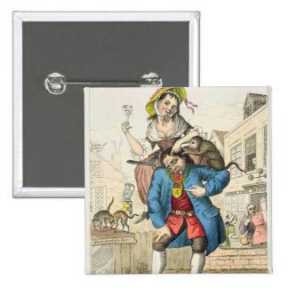 Un hombre cargó con travesura, o el matrimonio, c. pin cuadrado