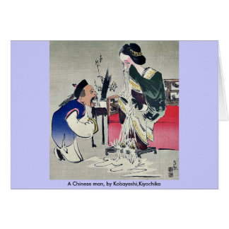 Un hombre chino, por Kobayashi, Kiyochika Tarjeta De Felicitación