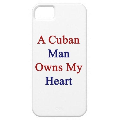 Un hombre cubano posee mi corazón funda para iPhone 5 barely there