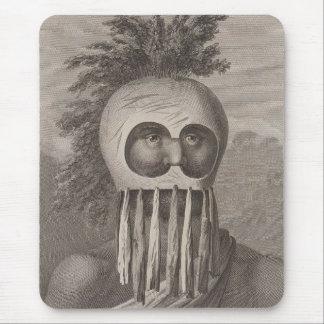 Un hombre de las islas de bocadillo en una máscara alfombrillas de ratón
