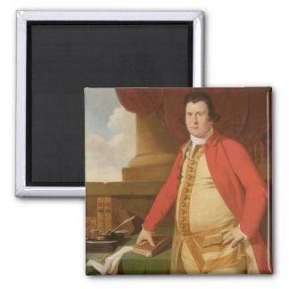 Un hombre desconocido, c.1764-69 (aceite en lona) imán cuadrado
