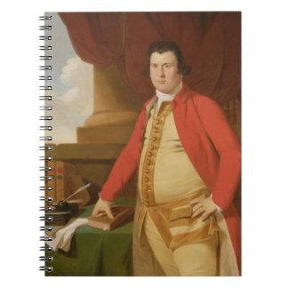 Un hombre desconocido, c.1764-69 (aceite en lona) libreta espiral