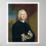 Un hombre desconocido en el negro, 1735 (aceite en impresiones