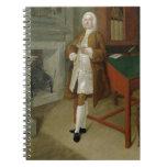 Un hombre desconocido en una biblioteca, c.1740-41 libretas espirales