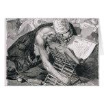 Un hombre docto absorbente en el Koran Tarjeta De Felicitación