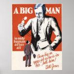 Un hombre grande es humano después de todos poster