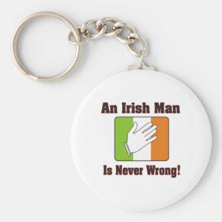 Un hombre irlandés nunca es incorrecto llavero redondo tipo pin