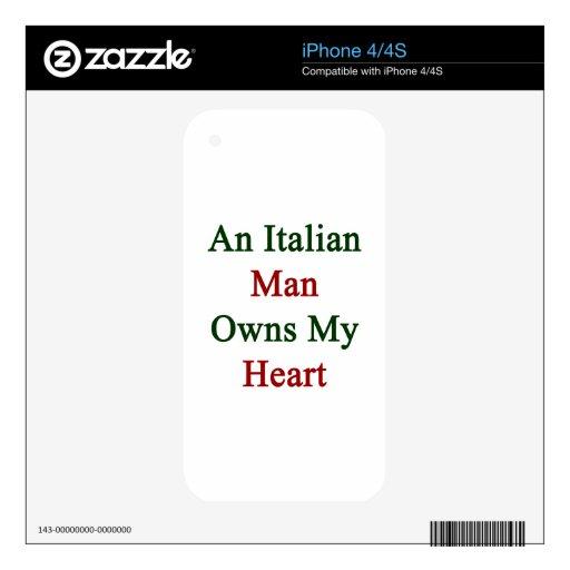Un hombre italiano posee mi corazón skin para el iPhone 4S