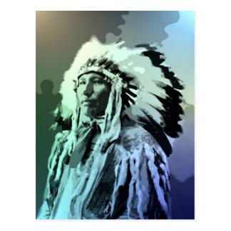Un hombre joven del indio de Brule Tarjetas Postales
