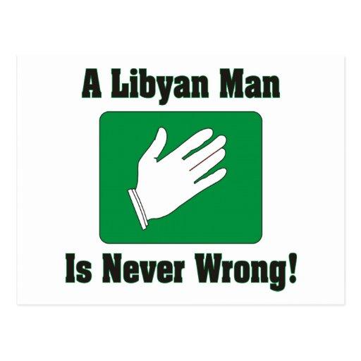 Un hombre libio nunca es incorrecto tarjeta postal
