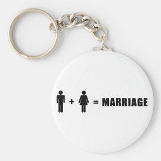 Un hombre más una mujer iguala boda llavero redondo tipo pin