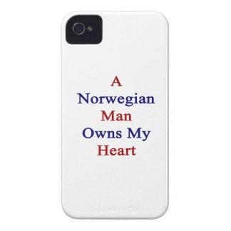 Un hombre noruego posee mi corazón iPhone 4 Case-Mate protector