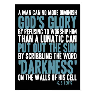 Un hombre puede disminuir no más la gloria de dios postal