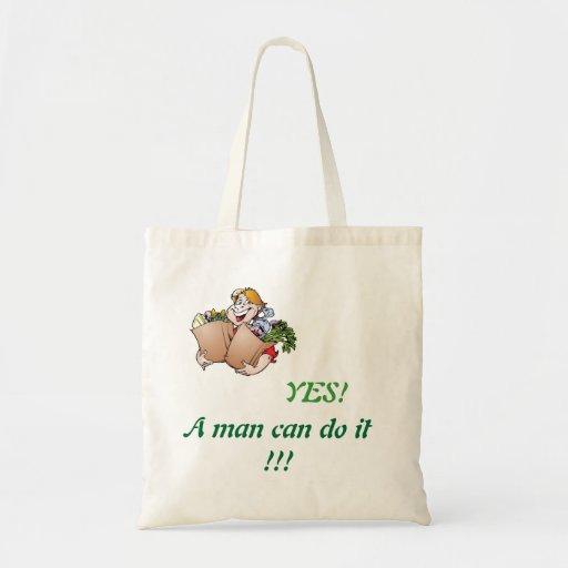 ¡Un hombre puede hacerlo! bolso de ultramarinos Bolsa De Mano