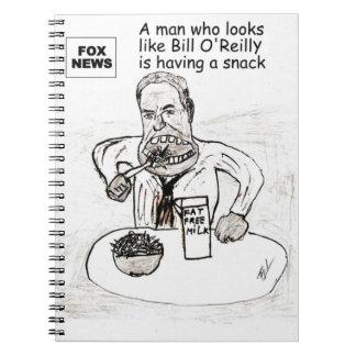Un hombre que parece el cuaderno de Bill O'Reilly