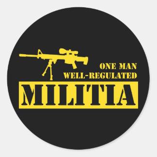 Un hombre reguló bien a la milicia etiqueta