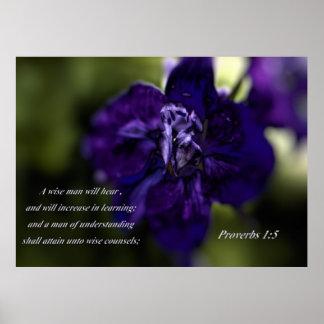 Un hombre sabio - 1:5 de los proverbios póster