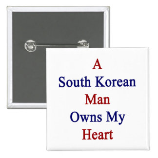 Un hombre surcoreano posee mi corazón pin