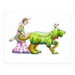 un hombre y el suyo dogerpillar tarjetas postales