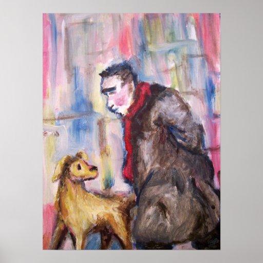 Un hombre y su perro póster