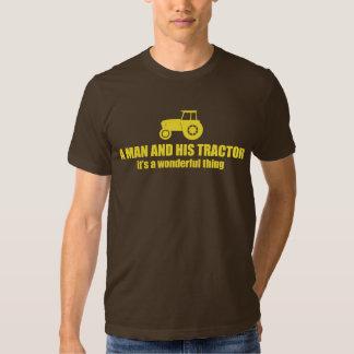 un hombre y su tractor, es una cosa maravillosa poleras
