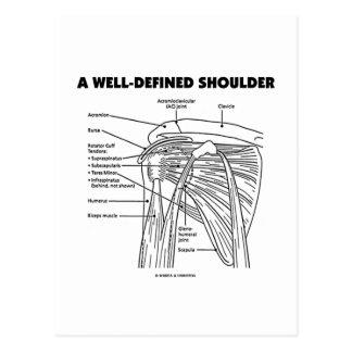 Un hombro bien definido (humor anatómico) tarjetas postales