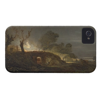 Un horno de cal en Coalbrookdale, c.1797 (aceite iPhone 4 Funda