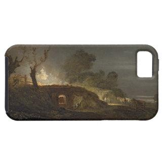 Un horno de cal en Coalbrookdale, c.1797 (aceite iPhone 5 Carcasas