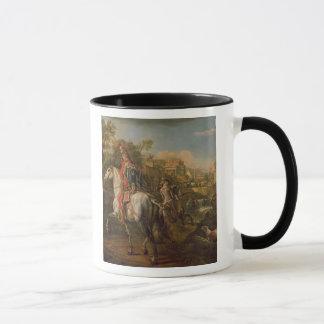 Un húsar a caballo, 1773 taza