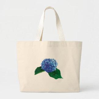 Un Hydrangea azul Bolsas Lienzo