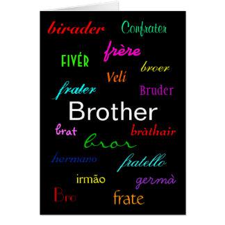 """""""Un I de Brother tarjeta del cumpleaños"""" -"""