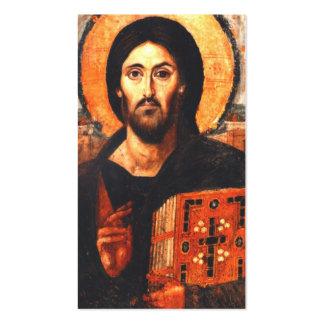 Un icono del siglo VI de Jesús Plantillas De Tarjetas Personales