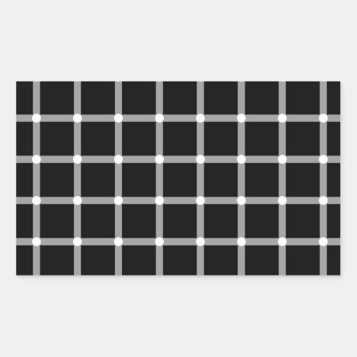 Un illus óptico de centelleo de la rejilla blanco pegatina rectangular
