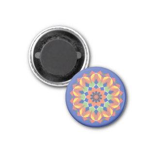 Un imán colorido del caleidoscopio de la forma de