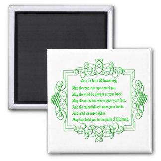 Un imán irlandés de la bendición