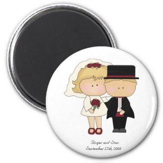 Un imán personal del boda